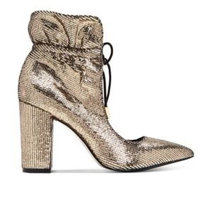 Katy Perry Frann Shoe Boot Metallic Gold NEW